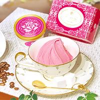 華貴婦人 ピンク珈琲キャンディとジェラートのセット