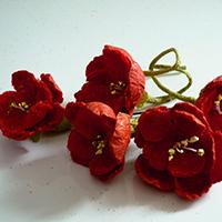 和の持つ華やかな美しさ★手作りの花の髪飾り★椿と梅の髪飾り 3点セット
