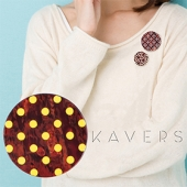 「KAVERS」ブローチ KVR-002 -S-