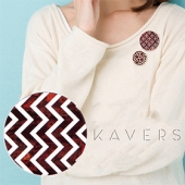 「KAVERS」ブローチ KVR-004 -S-