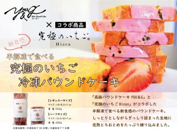 【送料込み】半解凍で食べる究極のいちごパウンドケーキ【 ハーフサイズ 280g】