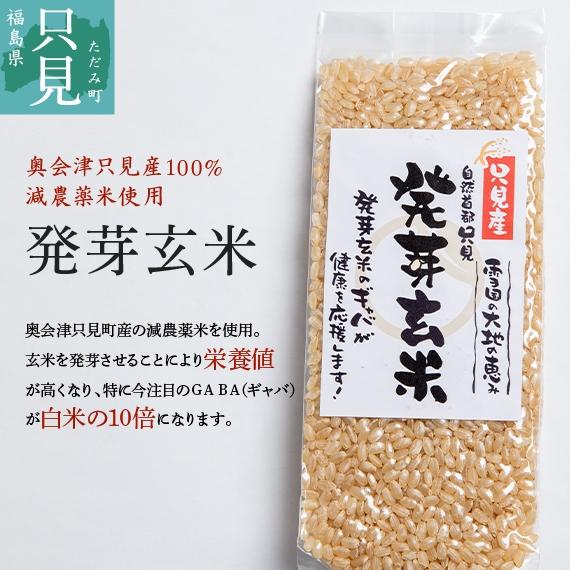 【奥会津只見産減農薬米100%】発芽玄米150g 送料無料