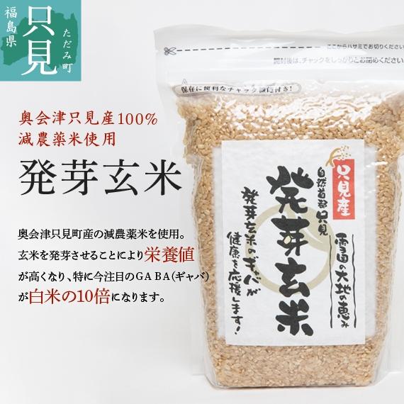 【奥会津只見産減農薬米100%】発芽玄米2kg(1kg×2)送料無料