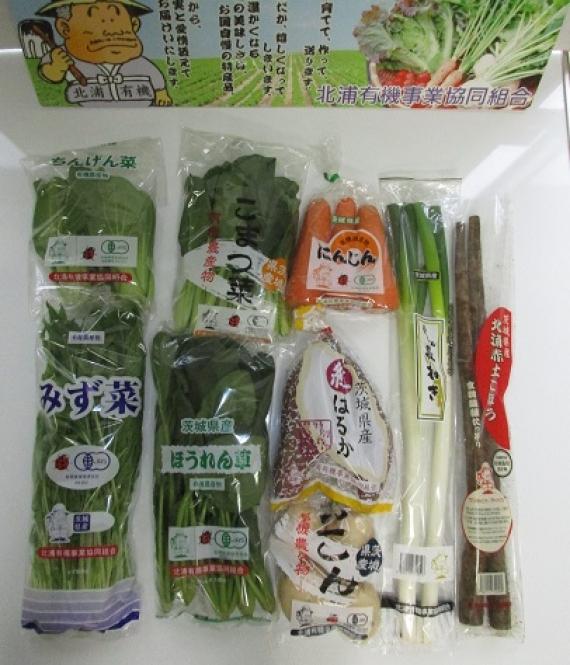 北浦発旬の野菜9種セット(有機野菜入り)