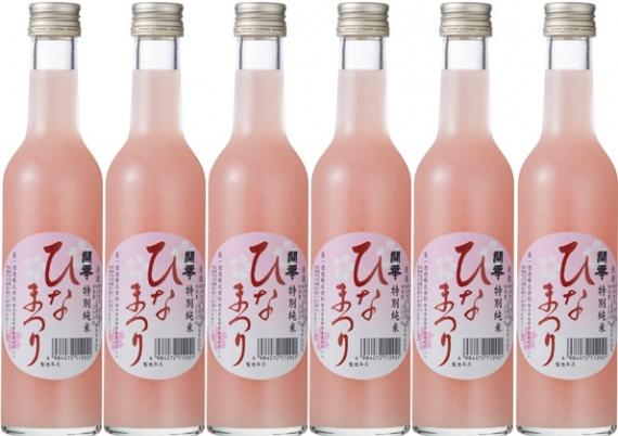 桃色にごり酒「開華 ひなまつり300ml」(日本酒 純米酒 低アルコール)
