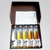 テレビ「出没!アド街ック天国」で紹介された外房の地酒 木戸泉酒造の『古酒五曲 秘蔵古酒詰合せ』です。