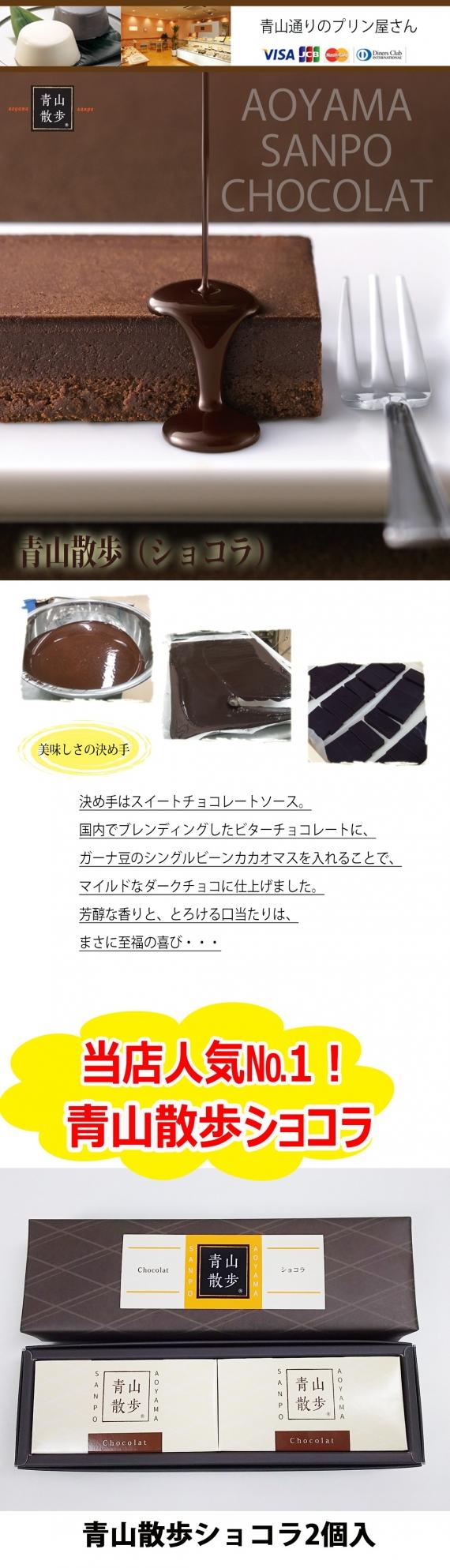☆当店人気NO.1☆濃厚チョコレートケーキ 青山散歩(ショコラ)2個入