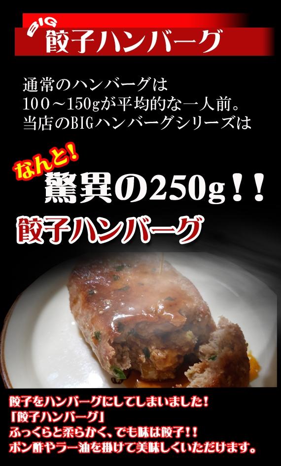 【送料込み!¥3000!!】えっ!餃子!BIG餃子ハンバーグ3食セット【父の日2021】【グルメ・おつまみ】【お中元2021】【精肉・肉加工品】
