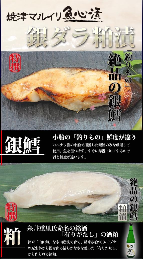 【ご贈答に!】銀ダラ粕漬(1切真空タイプ)【鮮魚・魚介類】【漬魚・魚加工品】