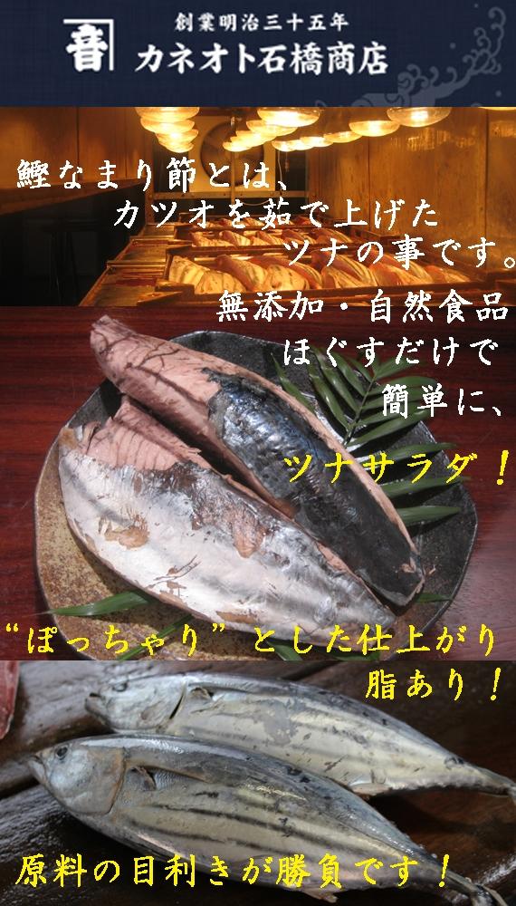 鰹(かつお)なまり節 10節セット 焼津名産品 無添加・自然食品 魚肉の釜上げツナ 【漬魚・魚加工品】