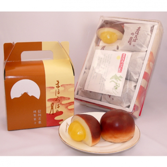 まほろばの月8個入 信州長野市のお土産【和菓子】