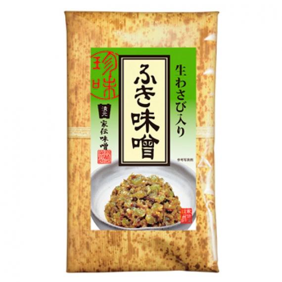 生わさび入りふき味噌(竹紙) 信州長野のお土産