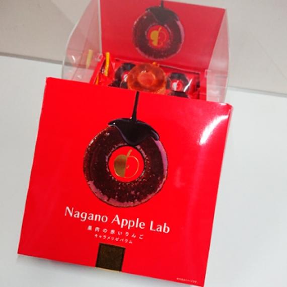 果肉の赤いりんごキャラメリゼバウム6個入 信州長野県りんごのお土産お菓子