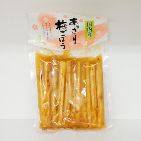 国内産あっさり梅ごぼう 信州長野県のお土産 漬け物
