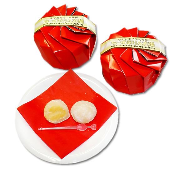 ちーずぷりん大福 5個入×2箱 送料無料 スイーツ 洋菓子 和菓子 甘いのも好きな方におすすめ 濃厚生キャラメル 米粉の大福