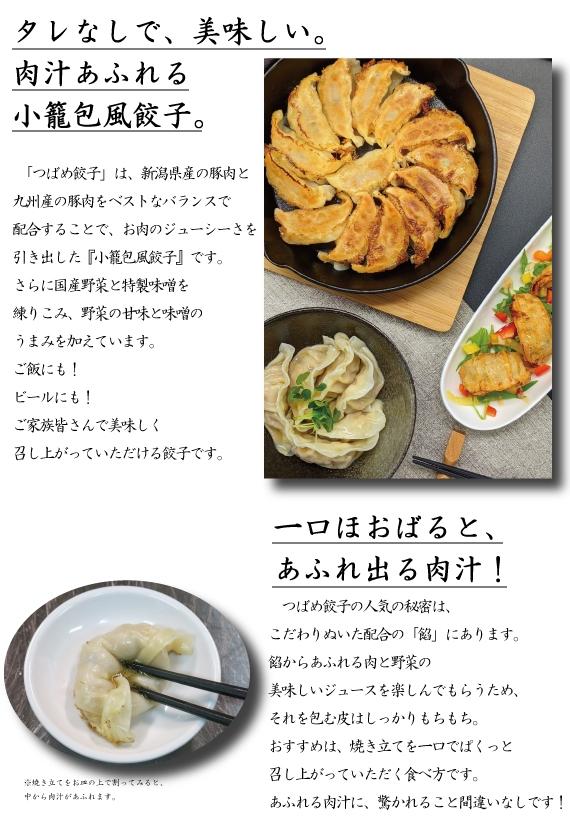 【タレなしで美味い!】つばめ餃子(レギュラー・ピリ辛みそ味)40個(20個入り発泡スチロール×2)【米・野菜・惣菜】