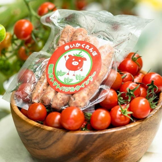 赤いかくれんぼ 粗挽きトマトバジルウインナー
