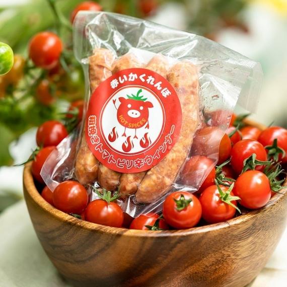赤いかくれんぼ 粗挽きトマトウインナー(ピリ辛)