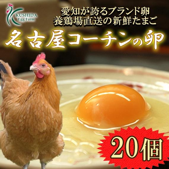 櫛田養鶏場の名古屋コーチンの卵【20個入り(18個+2個破卵保証)】