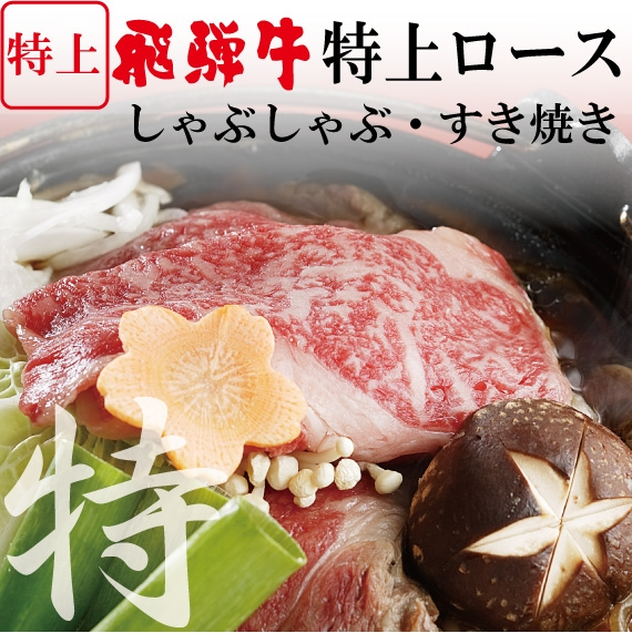 [本州送料無料]飛騨牛 ロース すき焼き・しゃぶしゃぶ用 500g