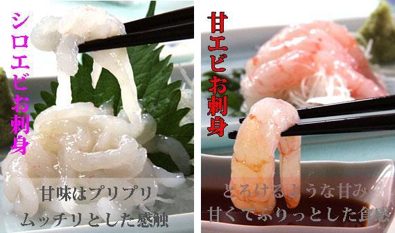 ?*?非表示・販売休止?*?「富山の海幸」【高級珍味】紅白えびお刺身セット(送料込)