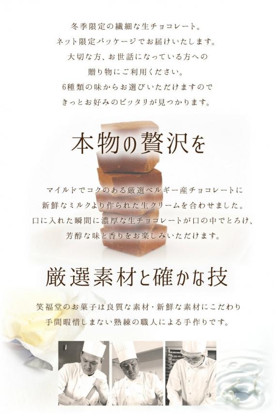 【選べる6種】【早割】冬季限定とろける生チョコレート(プレーン・緑茶・いちご・梅・洋酒・日本酒)【バレンタイン】