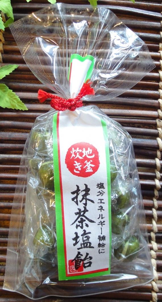 京の暑気払い 抹茶塩飴 100g