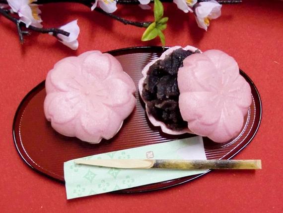 桜型(ふる里)最中 専用化粧箱6個入り][スイーツ・和菓子]