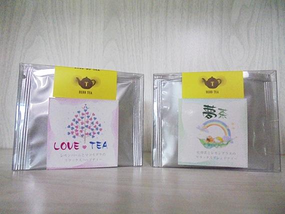 レモンバームとマコモダケのリラックスハーブティー & 杜仲茶とレモングラスのリラックスブレンドティー