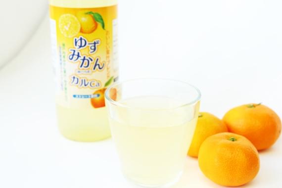 瀬戸内産ミカン果汁入り【ゆずみかんカルCa飲料 720ml 12本セット】