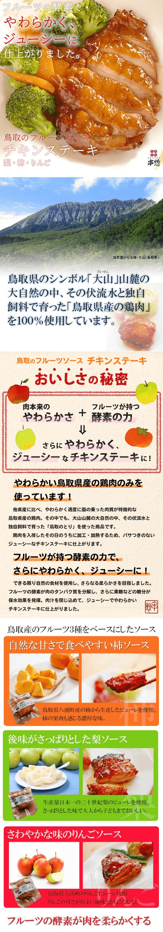 鳥取のフルーツソースチキンステーキと居ながら居酒屋チキン 6種類×2枚セット【お中元2021】【精肉・肉加工品】