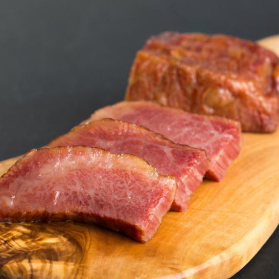 高級 厚切り鳥取和牛 和牛ベーコン約160g 和牛あいびきハンバーグプレゼントキャンペーン中 あかまる牛肉店(お歳暮・お中元・ご贈答・ギフトに最適)