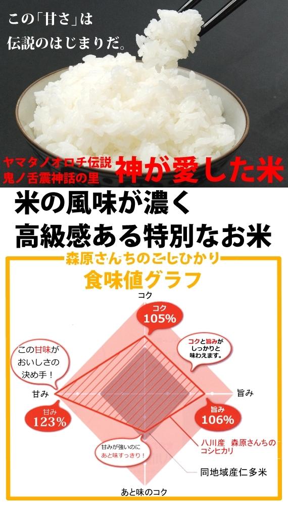 【濃厚な味わいの仁多米 森原さんちのコシヒカリ5kg】3年産新米【送料込み】