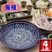 【当店人気NO1!】ふぐ料理ファミリーコース(4人前)