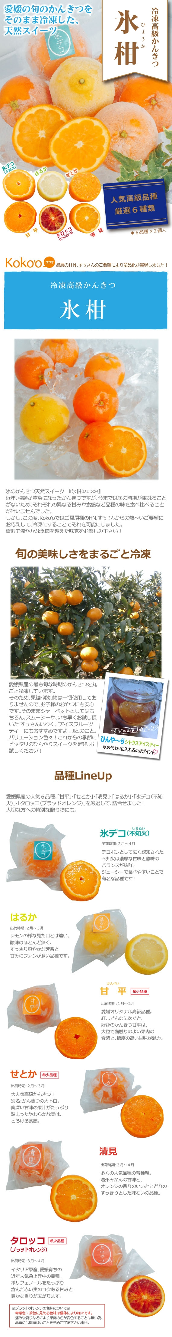 【送料無料】愛媛県産 人気高級品種〜冷凍みかん〜『氷柑(ひょうか)』  12玉詰合せ