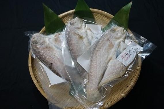 愛媛八幡浜産 超高級魚・白甘鯛の一夜干し 3枚セット【お中元2020】【漬魚・魚加工品】