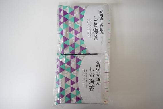 有明育ち(塩味) おかずのりタイプ 10パック袋入り