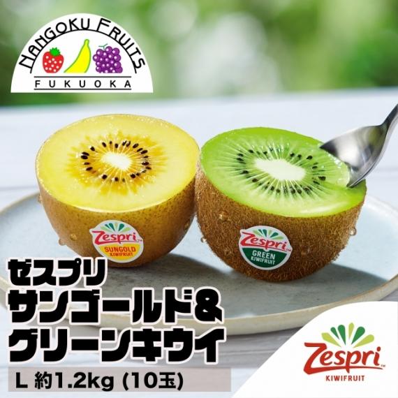 【送料無料】ゼスプリ サンゴールド&グリーンキウイ L約1.2�s (10玉)【フルーツ】