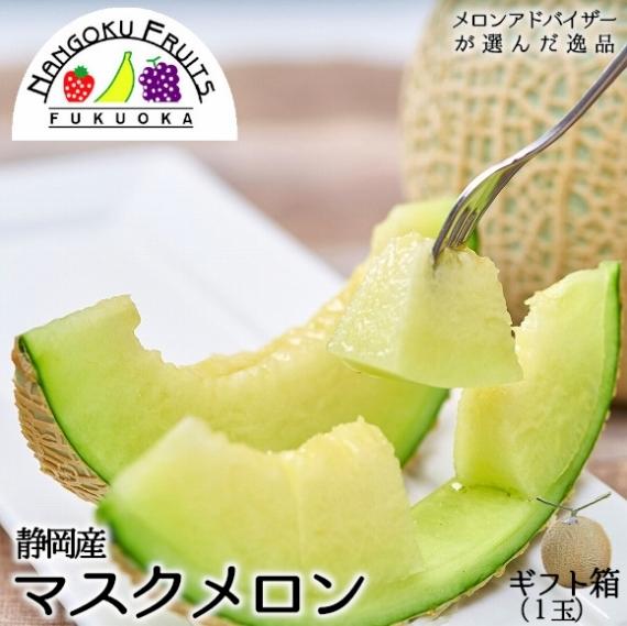 【送料無料】産地応援 静岡マスクメロン 1玉 【贈答人気】