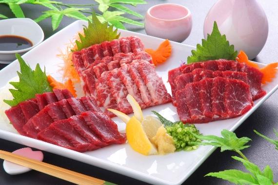 熊本馬刺し三種盛【マル得セット】【送料無料】【精肉・肉加工品】
