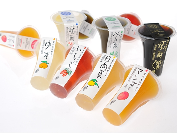 大地ゼリー5個入(5種) 期間限定 宮�ア県産の素材のみ使用 9月15日までお取り寄せ可能