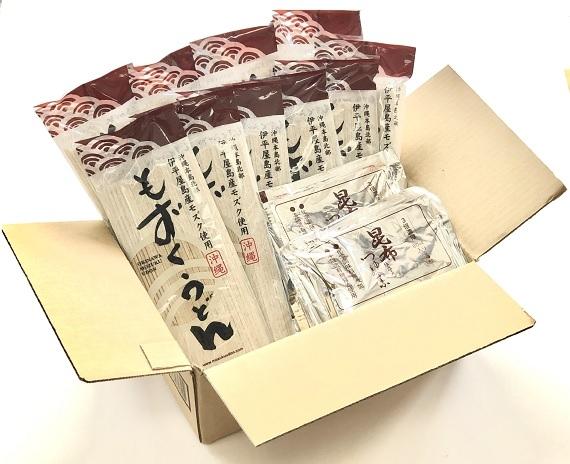 もずくうどん 20食つゆ付セット【送料無料】沖縄産生モズクをたっぷり練り込んだ鉄分、カルシウムを多く含むのど越しの良い麺です。化学調味料無添加の麺つゆ付きで簡単に召し上がれ